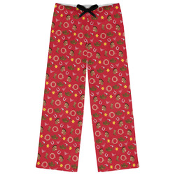 Red Western Womens Pajama Pants (Personalized)