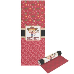 Red Western Yoga Mat - Printable Front and Back (Personalized)