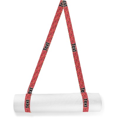 Red Western Yoga Mat Strap (Personalized)