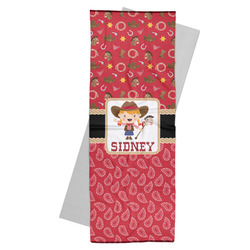 Red Western Yoga Mat Towel (Personalized)