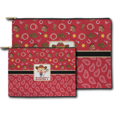 Red Western Zipper Pouch (Personalized)