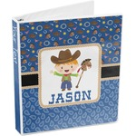 Blue Western 3-Ring Binder (Personalized)