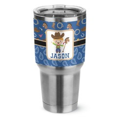 Blue Western Stainless Steel Tumbler - 30 oz (Personalized)