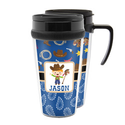 Blue Western Acrylic Travel Mugs (Personalized)