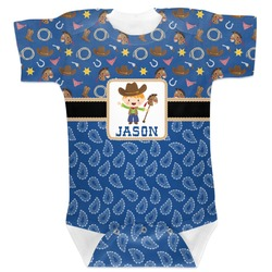 Blue Western Baby Bodysuit (Personalized)