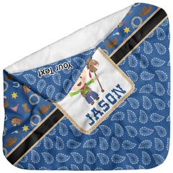 Blue Western Baby Hooded Towel (Personalized)