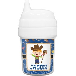 Blue Western Baby Sippy Cup (Personalized)