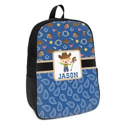 Blue Western Kids Backpack (Personalized)