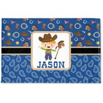 Blue Western Woven Mat (Personalized)