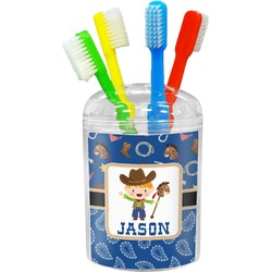 Blue Western Toothbrush Holder (Personalized)
