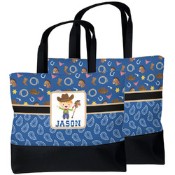 Blue Western Beach Tote Bag (Personalized)