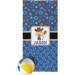 Blue Western Beach Towel (Personalized)