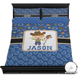 Blue Western Duvet Cover Set (Personalized)