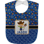 Blue Western Baby Bib (Personalized)