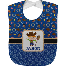Blue Western Baby Bib (Personalized)
