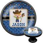 Blue Western Cabinet Knob (Black) (Personalized)
