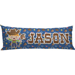 Blue Western Body Pillow Case (Personalized)