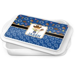 Blue Western Cake Pan (Personalized)