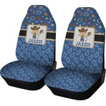 Blue Western Car Seat Covers (Set of Two) (Personalized)