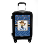 Blue Western Carry On Hard Shell Suitcase (Personalized)