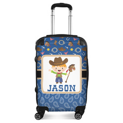 Blue Western Suitcase (Personalized)