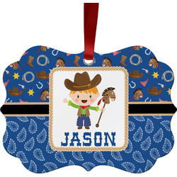 Blue Western Ornament (Personalized)