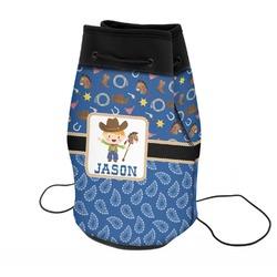 Blue Western Neoprene Drawstring Backpack (Personalized)