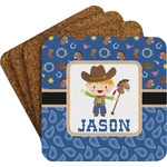 Blue Western Coaster Set w/ Stand (Personalized)