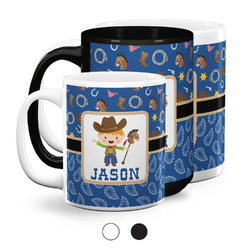 Blue Western Coffee Mugs (Personalized)