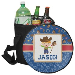 Blue Western Collapsible Cooler & Seat (Personalized)