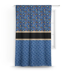 Blue Western Curtain (Personalized)