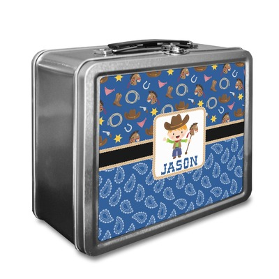 Blue Western Lunch Box (Personalized)
