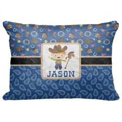 "Blue Western Decorative Baby Pillowcase - 16""x12"" (Personalized)"