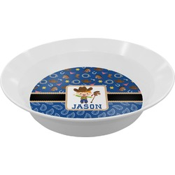 Blue Western Melamine Bowl (Personalized)