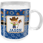 Blue Western Acrylic Kids Mug (Personalized)