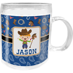 Blue Western Acrylic Kids Mug (Personalized)
