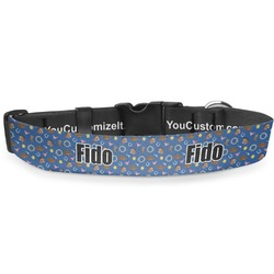"""Blue Western Deluxe Dog Collar - Double Extra Large (20.5"""" to 35"""") (Personalized)"""
