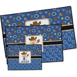 Blue Western Door Mat (Personalized)