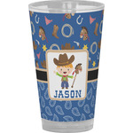 Blue Western Drinking / Pint Glass (Personalized)