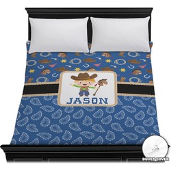 Blue Western Duvet Cover (Personalized)