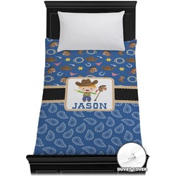 Blue Western Duvet Cover - Twin (Personalized)