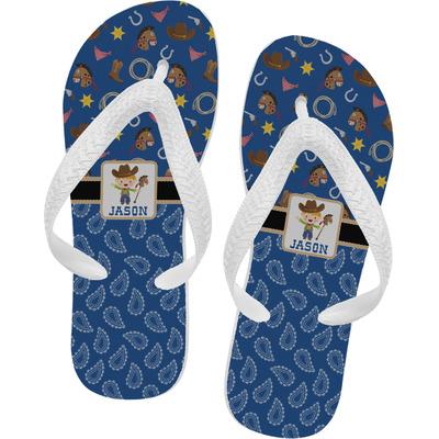 Blue Western Flip Flops (Personalized)