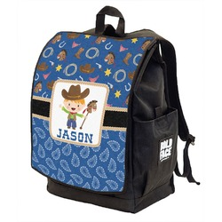Blue Western Backpack w/ Front Flap  (Personalized)
