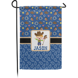 Blue Western Garden Flag - Single or Double Sided (Personalized)