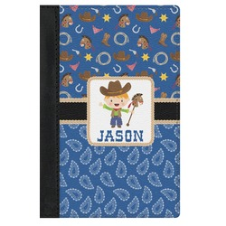Blue Western Genuine Leather Passport Cover (Personalized)