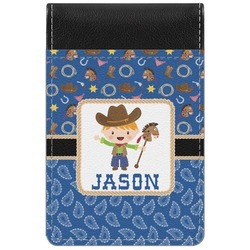 Blue Western Genuine Leather Small Memo Pad (Personalized)