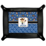 Blue Western Genuine Leather Valet Tray (Personalized)