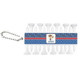 Blue Western Golf Tees & Ball Markers Set (Personalized)