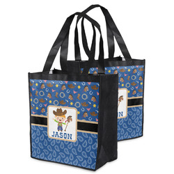 Blue Western Grocery Bag (Personalized)