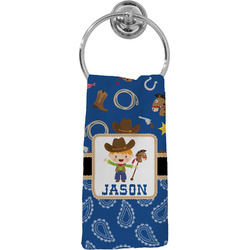 Blue Western Hand Towel - Full Print (Personalized)